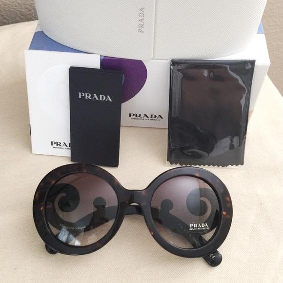 5cf4aa341a8f NIB Prada Women s 55mm Minimal Baroque Sunglasses